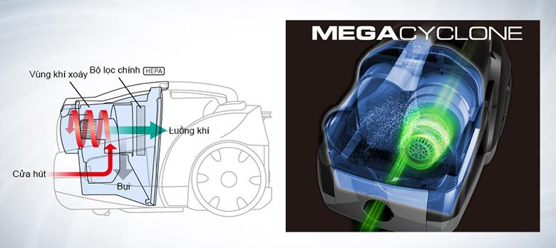 Máy hút bụi Panasonic MC-CL575KN49 sử dụng công nghệ hút xoáy