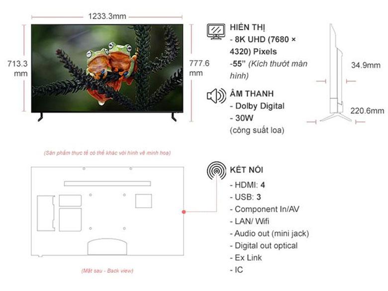 Smart Tivi QLED Samsung 8K 55 inch QA55Q900R giá tốt, chính hãng