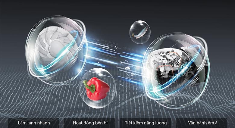 Tủ lạnh Toshiba Inverter 511 lít GR-RF610WE tiết kiệm điện với origin inverter