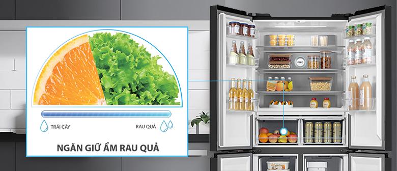 Tủ lạnh Toshiba Inverter 511 lít GR-RF610WE có ngăn rau quả giữ ẩm