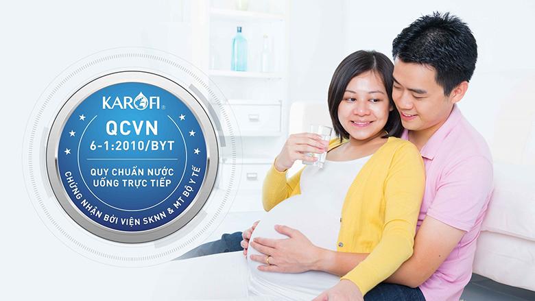 Máy lọc nước Karofi 9 cấp N-E239 đạt chuẩn quốc gia về nước uống trực tiếp