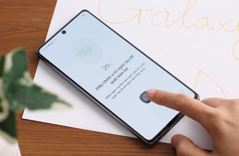 Bảo mật vân tay-điện thoại Samsung Galaxy Note 20 8GB/256GB Xám