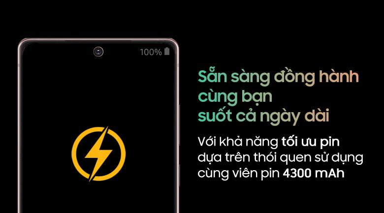 Dung lượng pin lớn-điện thoại Samsung Galaxy Note 20 8GB/256GB đồng