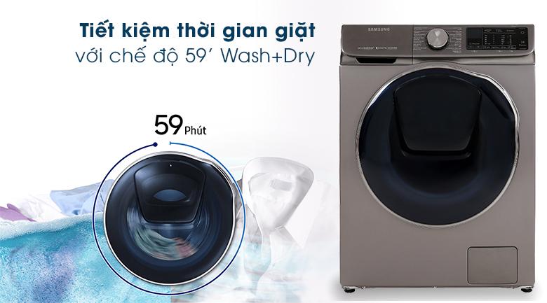 59' Wash+Dry-Máy giặt sấy Samsung Inverter 10.5 kg WD10N64FR2X/SV