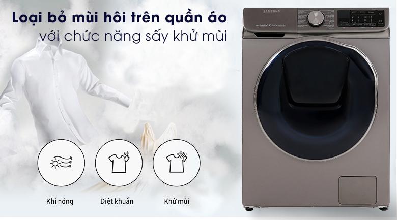 Air Wash-Máy giặt sấy Samsung Inverter 10.5 kg WD10N64FR2X/SV