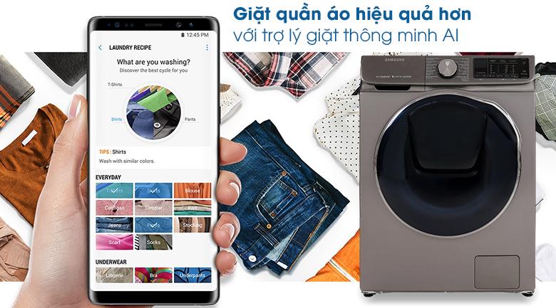 Trợ lý giặt thông minh AI-Máy giặt sấy Samsung Inverter 10.5 kg WD10N64FR2X/SV