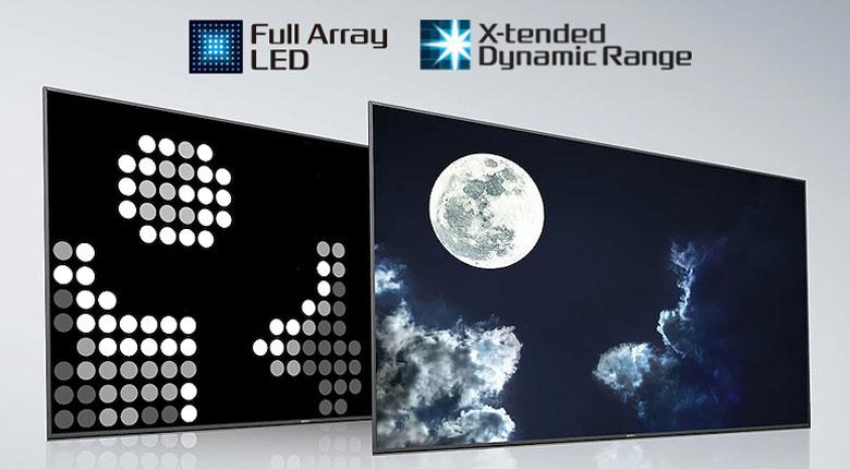Công nghệ đèn nền Full Array - Android Tivi Sony 4K 55 inch KD-55X9000H/S