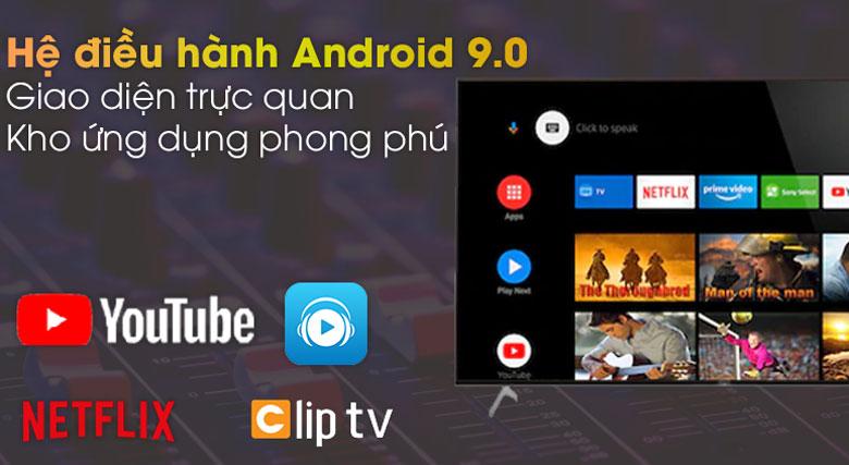 Hệ điều hành Android 9.0 - Android Tivi Sony 4K 55 inch KD-55X9000H/S