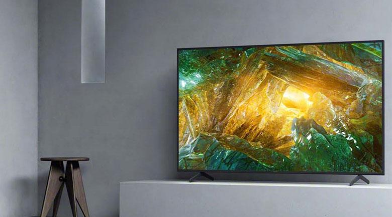 Thiết kế hiện đại - Android Tivi Sony 4K 43 inch KD-43X8050H