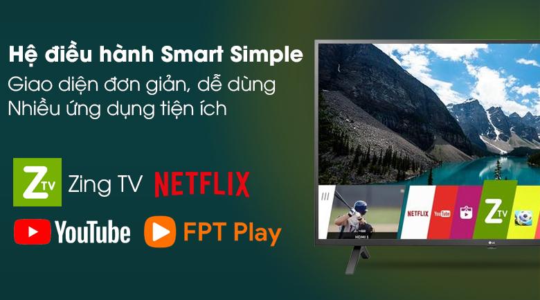 Smart Tivi LG 4K 65 inch 65UN7000PTA hệ điều hành smart simple linux