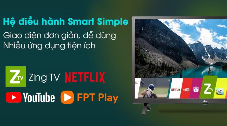 Smart Tivi LG 43 inch 43LN5600PTA hệ điều hành simple smart