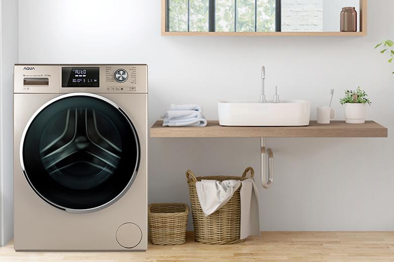 Thiết kế-Máy giặt Aqua Inverter 10.5 kg AQD-DD1050E.N lồng ngang