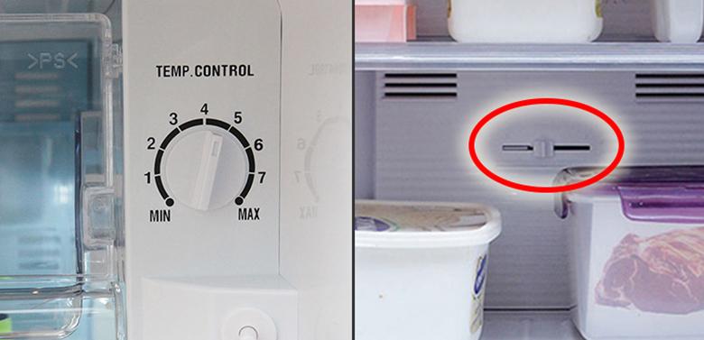 Vì sao tủ lạnh không đông đá do nút điều chỉnh ở chế độ nhỏ
