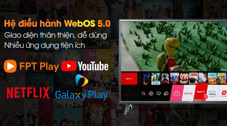 Smart Tivi LG 4K 50 inch 50UN7350PTD hệ điều hành webOS