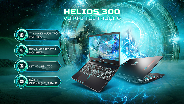 Thiết kế-Laptop Gaming Acer Predator PH315-53-770L