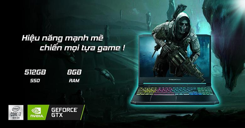 Cấu hình-Laptop Gaming Acer Predator PH315-53-770L