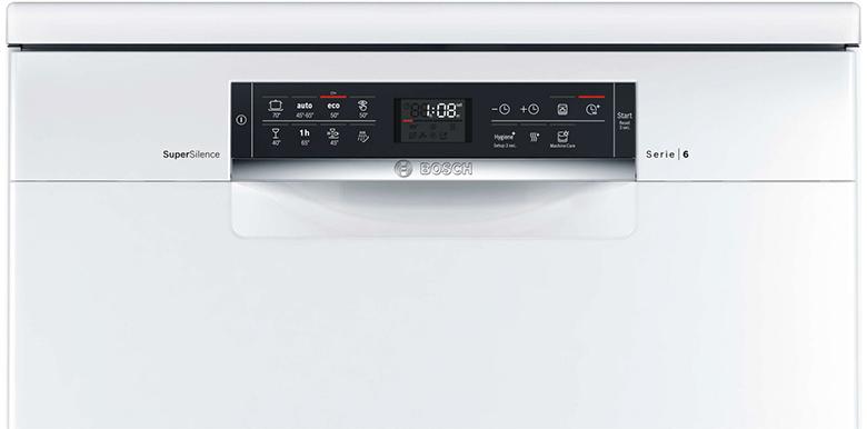 Máy rửa bát Bosch SMS68PW01E có bảng điều khiển cảm ứng