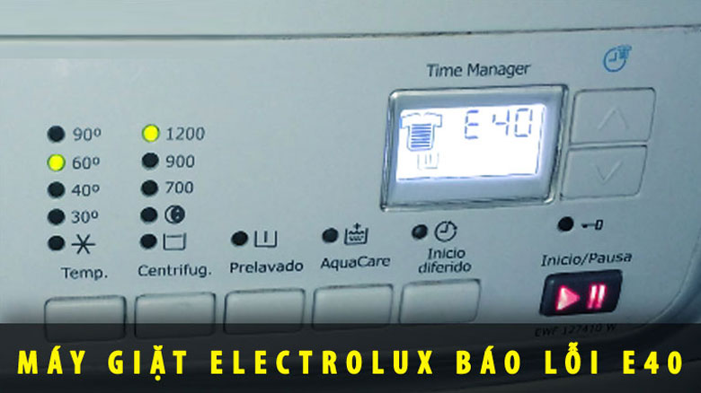Máy giặt Electrolux lỗi E40