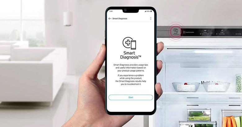 Tủ lạnh LG Inverter 306 lít GR-B305PS chẩn đoán lỗi