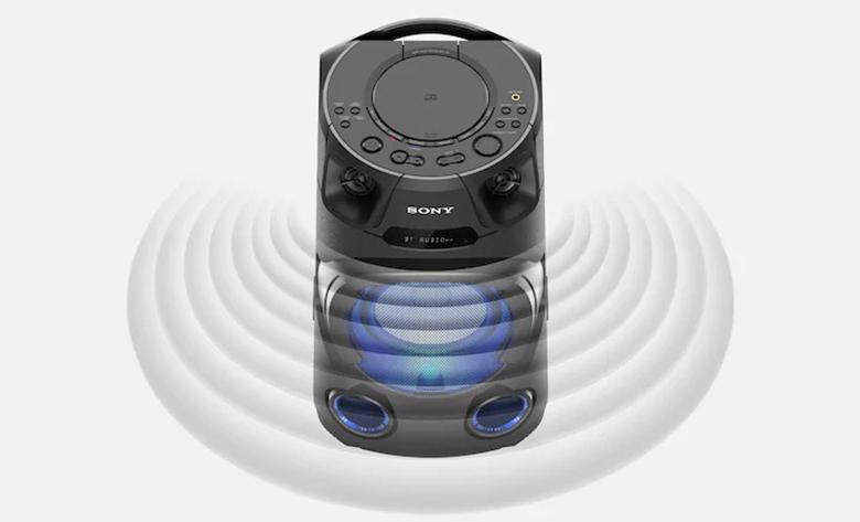 Âm bass mạnh mẽ - Dàn âm thanh Sony MHC-V13 M SP6
