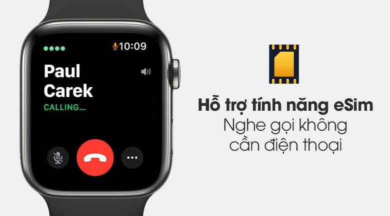 Hỗ trợ eSim - Đồng hồ Apple Watch Series 6 GPS+Cellular 40mm Space Gray Aluminium Case &BlackSportBand M06P3VN/A