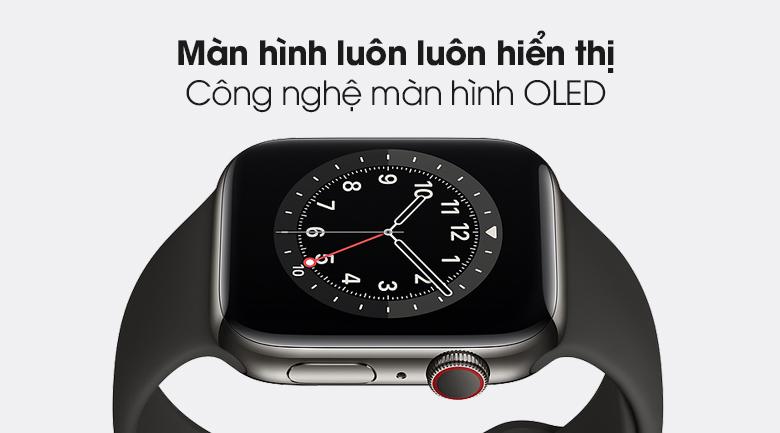 Công nghệ màn hình OLED - Đồng hồ Apple Watch Series 6 GPS+Cellular 40mm Space Gray Aluminium Case &BlackSportBand M06P3VN/A