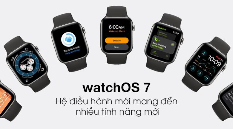 Hệ điều hành được tối ưu - Đồng hồ Apple Watch Series 6 GPS+Cellular 40mm Space Gray Aluminium Case &BlackSportBand M06P3VN/A