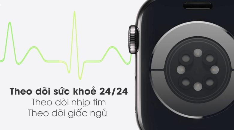 Chăm sóc sức khỏe người dùng - Đồng hồ Apple Watch Series 6 GPS+Cellular 40mm Space Gray Aluminium Case &BlackSportBand M06P3VN/A