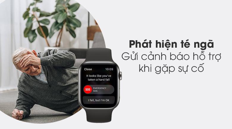 Có khả năng phát hiện té ngã - Đồng hồ Apple Watch Series 6 GPS+Cellular 40mm Space Gray Aluminium Case &BlackSportBand M06P3VN/A