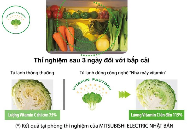 Tủ lạnh Mitsubishi Inverter 506 lít MR-WX53Y-P-V ngăn rau quả