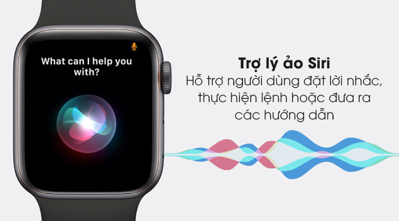 Trợ lý Siri - Đồng hồ Apple Watch Series 6 GPS 40mm Space Gray Aluminium Case with Black Sport Band MG133VN/A