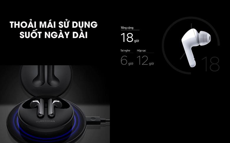 Tai nghe Bluetooth LG Tone Free HBS-FN6 Đen có sạc không dây