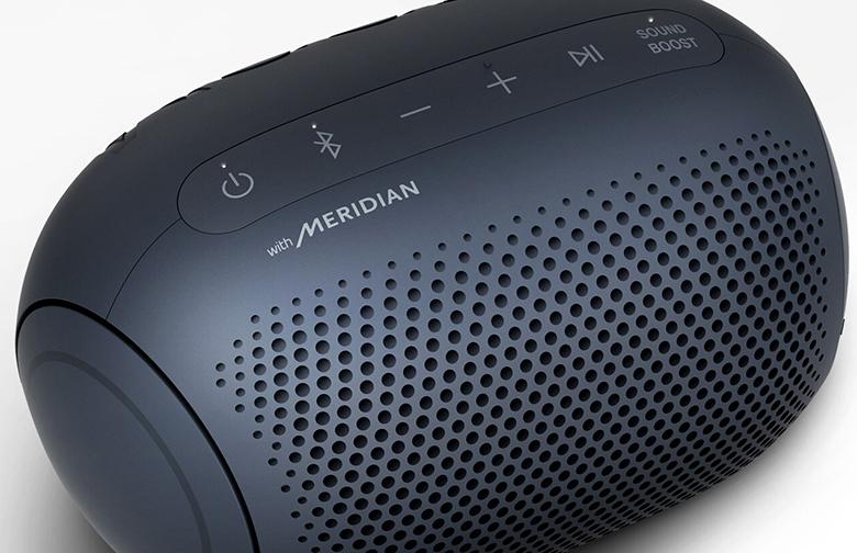 Loa Bluetooth LG Xboom Go PL2 Xanh Đen công nghệ meridian