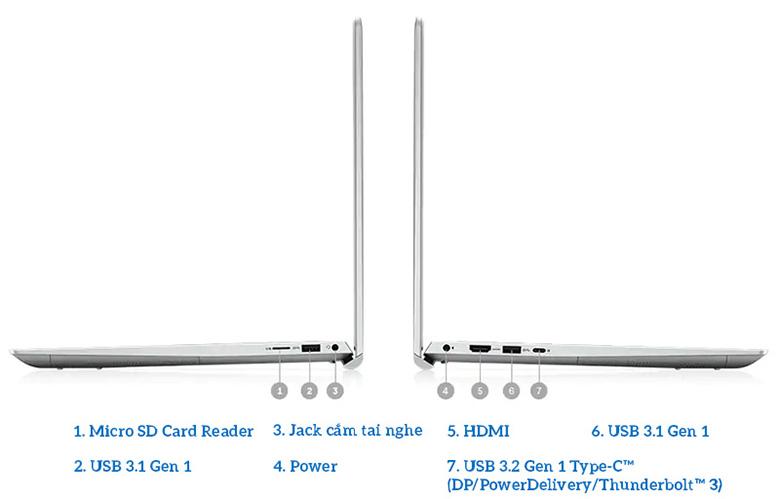 Laptop Dell Gaming Inspiron 7501 X3MRY1 đa dạng cổng kết nối