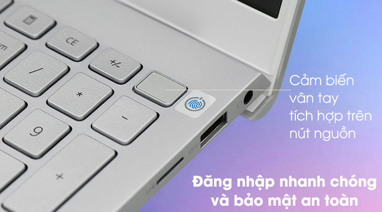 Laptop Dell Inspiron 15 5502 1XGR11 nguồn tích hợp vân tay