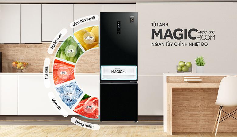 Tủ lạnh Aqua Inverter 324 lít AQR-B388MA(FB) ngăn đa năng