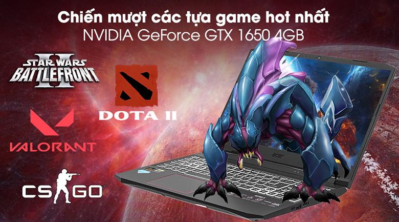 Laptop Acer Gaming Nitro AN515-44-R9JM NH.Q9MSV.003 card đồ họa rời