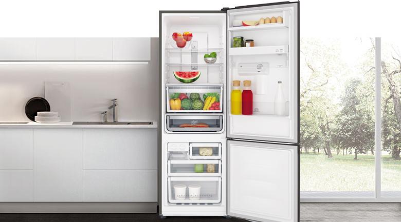 Tủ lạnh Electrolux Inverter 335 lít EBB3742K-H hộp đá xoay