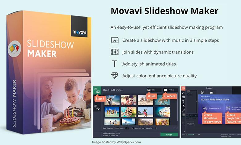 App làm video trên máy tính Movavi Slideshow Maker