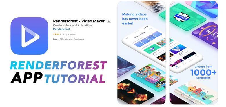 App làm video trên máy tính Renderforest với thông số như sau