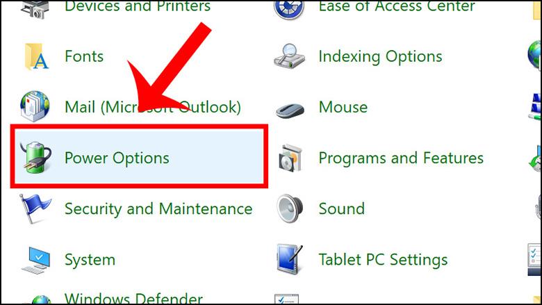 cách chỉnh laptop không tắt màn hình bằng control Panel bước 2