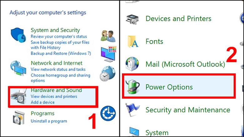 Điều chỉnh thời gian tắt màn hình laptop cho Windows 7 và 8 bước 2