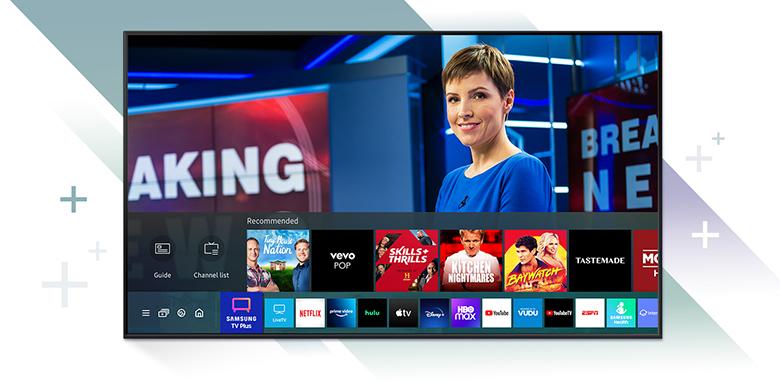 Hệ điều hành Tizen OS -Smart Tivi Samsung 4K 65 inch 65AU9000