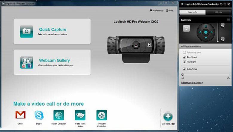 Thông tin về phần mềm webcam Logitech