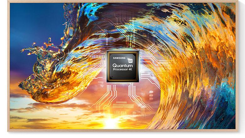 Quantum 4K - Smart Tivi Khung Tranh The Frame QLED 4K Samsung 75 inch QA75LS03A