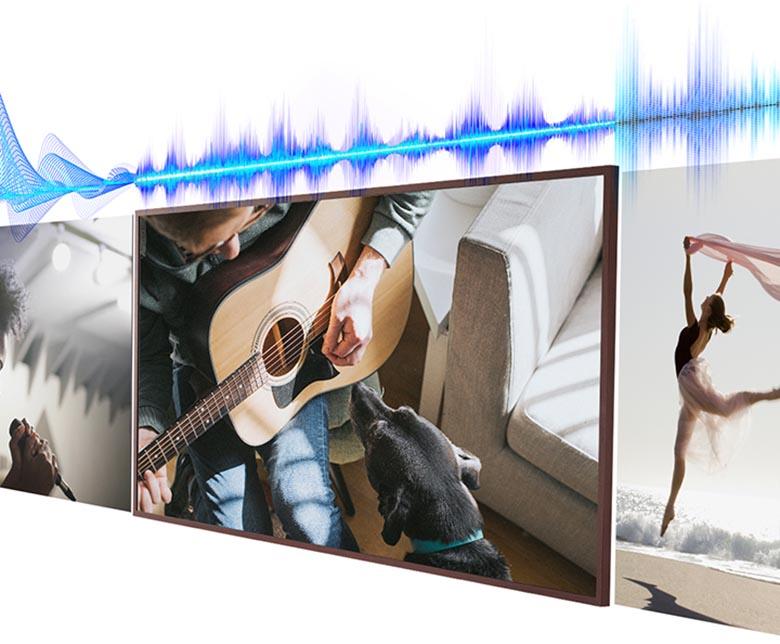 Tối ưu âm thanh phù hợp - Smart Tivi Khung Tranh The Frame QLED 4K Samsung 75 inch QA75LS03A