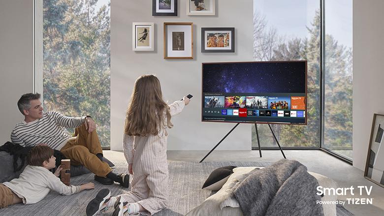 Hệ điều hành Tizen OS - Smart Tivi Khung Tranh The Frame QLED 4K Samsung 75 inch QA75LS03A