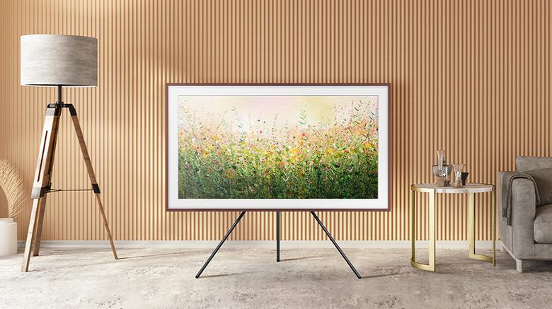 Chân đế Studio - Smart Tivi Khung Tranh The Frame QLED 4K Samsung 75 inch QA75LS03A