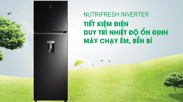 Tủ lạnh Electrolux Inverter 312 lít ETB3440K-H tiết kiệm điện