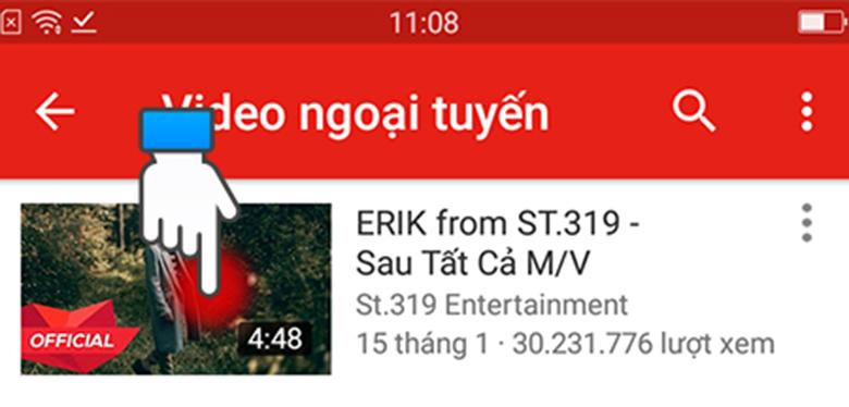 Cách lưu video trên youtube về điện thoại Oppo ngay chính youtube mở video bạn đã tải xuống